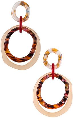 Lele Sadoughi Tortoise Earrings