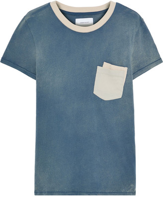 Current/Elliott The Desert Days Color-block Faded Cotton-jersey T-shirt