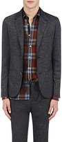 Lanvin Men's Tech-Back Micro-Checked Sportcoat-BLACK, GREY, DARK GREY