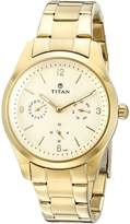 Titan Women's 9962YM01 Purple Analog Display Quartz Gold Watch