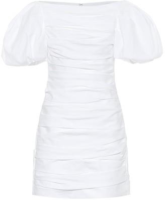 KHAITE Shelly cotton-poplin minidress
