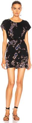 Raquel Allegra Cutoff T Shirt Dress in Black Sky Tie Dye | FWRD