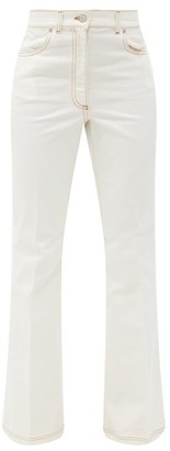 J.W.Anderson Logo-embroidered Bootcut Jeans - White