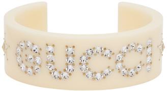 Gucci Off-White Crystal Bracelet