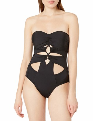Kenneth Cole New York Women's Sexy Solids Lace up Mio One Piece Swimsuit