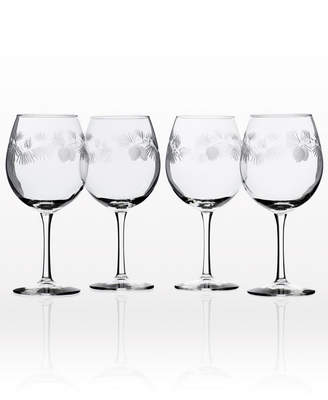 Rolf Glass Icy Pine Balloon Wine 18Oz - Set Of 4 Glasses