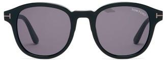 Tom Ford T-insert Round Acetate Sunglasses - Black