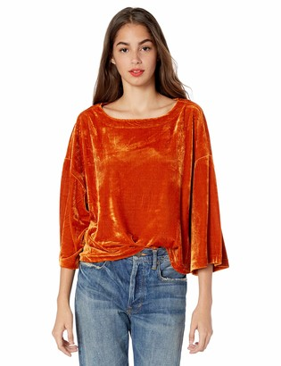 Cupcakes And Cashmere Women's Leiden Oversized Velvet Dolman top