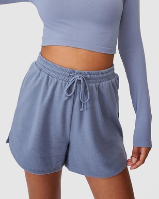 Cotton On Body Active - Women's Blue High-Waisted - Lifestyle On Ya Bike Fleece Shorts - Size XS at The Iconic
