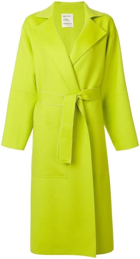 Maison Rabih Kayrouz long belted coat