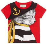 Gucci Baby T-shirt with sailor cat print