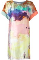 Tsumori Chisato watercolour print dress - women - Silk/Cotton/Polyurethane/Rayon - 3