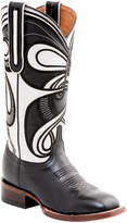 Lucchese Women's Hypnotic Swirl Leather Wide Western Boot