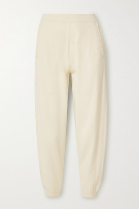 Max Mara Leisure Pernice Cashmere Track Pants - Cream