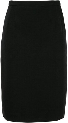 Chanel Pre Owned High-Rise Straight Skirt