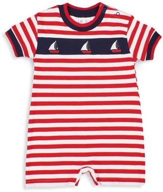 Florence Eiseman Baby Boy's Sailboat Striped Shortall