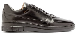 Dunhill Duke City Leather Low-top Trainers - Mens - Black