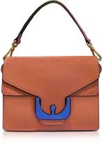 Coccinelle Ambrine Graphic Calendula Leather Satchel Bag
