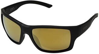 Smith Optics Outback (Matte Black/Chromapop Bronze Mirror Polarized) Athletic Performance Sport Sunglasses