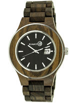 Earth Wood Cherokee Dark Brown Bracelet Watch with Date ETHEW3402