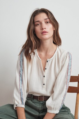 Velvet by Graham & Spencer Gabby Lyon Gauze Peasant Blouse