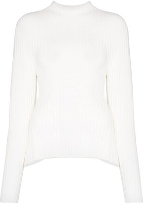 Low Classic Ribbed-Knit Open-Back Jumper