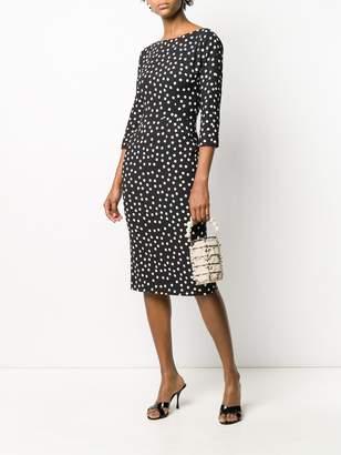 Dolce & Gabbana polka dot midi dress