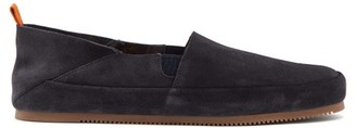 Mulo - Collapsible-heel Suede Loafers - Mens - Grey