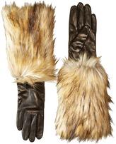 Kate Spade Faux Fox Fur Leather Glove