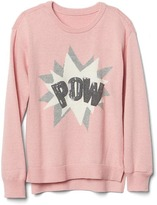 Gap Embellished graphic crew sweater