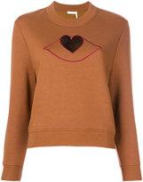 See by Chloe Heart cut-out sweatshirt