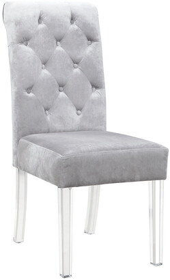 Chic Home Set Of 2 Sharon Silver Dining Chairs