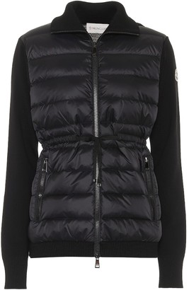 Moncler Down and wool jacket