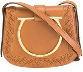 Salvatore Ferragamo Gancini plaque shoulder bag - women - Calf Leather/Leather - One Size