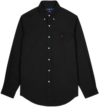 Polo Ralph Lauren Black Slim Cotton-poplin Shirt