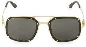 Cartier 58MM Square Titanium Sunglasses