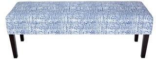 Sole Designs Kaya Sediment Trim Upholstered Classic Long Bench - Espresso Legs