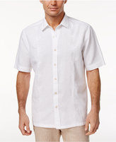 Tasso Elba Men's Embroidered Palm Tree Linen Blend Shirt, Created for Macy's