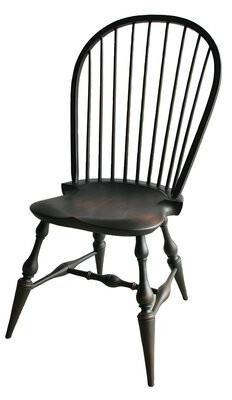 Rosalind Wheeler Ayden Solid Wood Windsor Back Side Chair Color: Distressed Brown