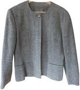 Sportmax Grey Wool Jacket for Women Vintage