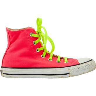 Converse Pink Cloth Trainers
