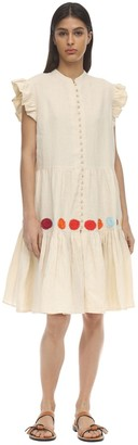 Carolina K. Anna Buttoned Linen Dress