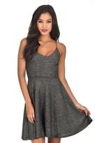 AX Paris Black Sparkly Strappy Skater Dress