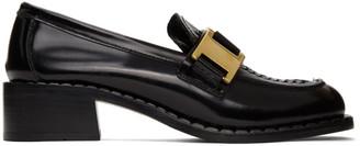 Prada Black Buckle Loafers