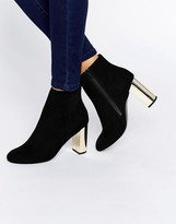 Miss KG Gold Heeled Boots