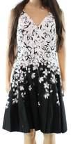 Lauren Ralph Lauren Lauren by Ralph Lauren Black Women's 6P Petite A-Line Floral Dress