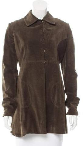 Alaia Suede Pointed Collar Jacket