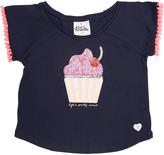 Eves Sister Tots Girls Cupcake Tee Blue