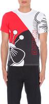 Kenzo Block Flower-print cotton-jersey t-shirt