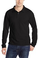 Izod Uniform Young Men's Long-Sleeve Pique Polo